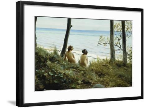 On the Beach, 1907-Harald Slott-Moller-Framed Art Print