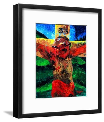 Crucifixion- it Is Finished, 2009-Patricia Brintle-Framed Art Print