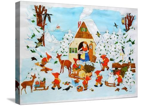 Snow White and the Seven Dwarfs-Christian Kaempf-Stretched Canvas Print