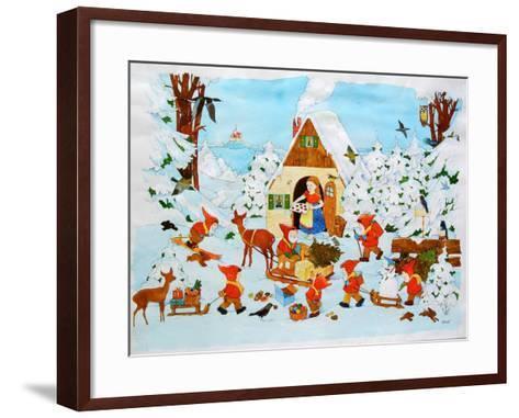 Snow White and the Seven Dwarfs-Christian Kaempf-Framed Art Print