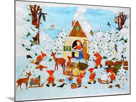 Snow White and the Seven Dwarfs-Christian Kaempf-Mounted Giclee Print