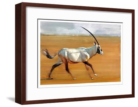 Galloping Oryx, 2010-Mark Adlington-Framed Art Print