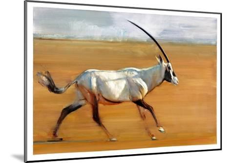 Galloping Oryx, 2010-Mark Adlington-Mounted Giclee Print