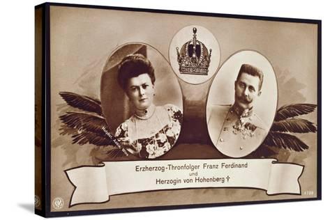 Archduke Franz Ferdinand of Austria, Heir to the Austrian Throne and His Wife, Duchess of…- Austrian School-Stretched Canvas Print