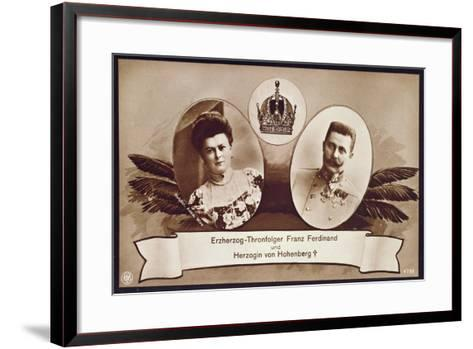 Archduke Franz Ferdinand of Austria, Heir to the Austrian Throne and His Wife, Duchess of…- Austrian School-Framed Art Print