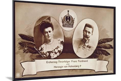 Archduke Franz Ferdinand of Austria, Heir to the Austrian Throne and His Wife, Duchess of…- Austrian School-Mounted Giclee Print