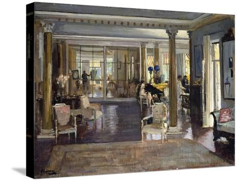 The Drawing Room, Falconhead, 1917-Sir John Lavery-Stretched Canvas Print