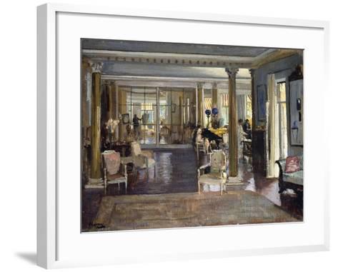 The Drawing Room, Falconhead, 1917-Sir John Lavery-Framed Art Print