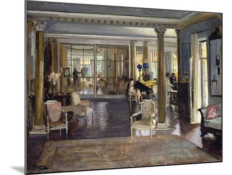 The Drawing Room, Falconhead, 1917-Sir John Lavery-Mounted Giclee Print
