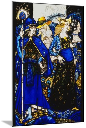 The Queens of Sheba, Meath and Connaught'. 'Queens', Nine Glass Panels Acided, Stained and?-Harry Clarke-Mounted Giclee Print