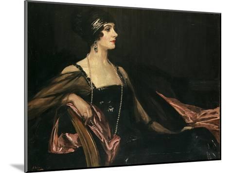 A Lady in Black: Portrait of Jean Ainsworth, Viscountess Massereene and Ferrard, 1917-Sir John Lavery-Mounted Giclee Print