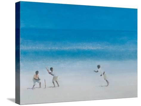 Cricket on the Beach, 2012-Lincoln Seligman-Stretched Canvas Print