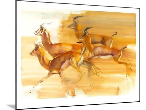 Running Gazelles, 2010-Mark Adlington-Mounted Giclee Print