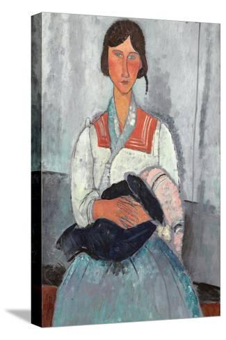 Gypsy Woman with Baby, 1919-Amedeo Modigliani-Stretched Canvas Print