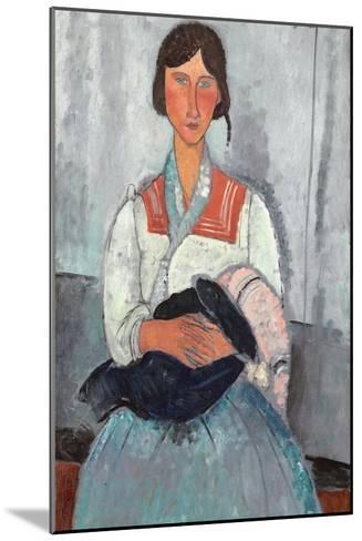 Gypsy Woman with Baby, 1919-Amedeo Modigliani-Mounted Giclee Print