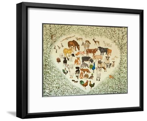 At the Heart of it All, 2013-Pat Scott-Framed Art Print