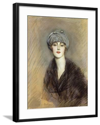 Portrait of Lucette, c.1913-Paul Cesar Helleu-Framed Art Print