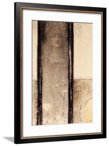 Femme Mysterieuse, c.1909-Fernand Khnopff-Framed Art Print