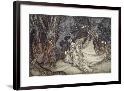 The Meeting of Oberon and Titania, 1908-Arthur Rackham-Framed Art Print