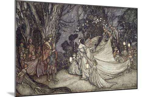 The Meeting of Oberon and Titania, 1908-Arthur Rackham-Mounted Giclee Print