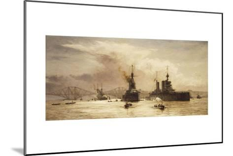 The First Battle Squadron Leaving the Forth for the Battle of Jutland, 1917-William Lionel Wyllie-Mounted Giclee Print