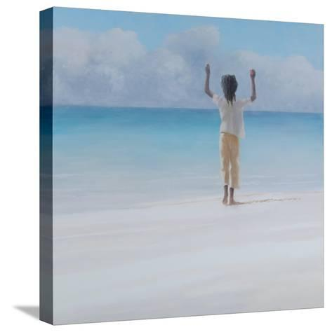 Rasta on Beach, 2012-Lincoln Seligman-Stretched Canvas Print