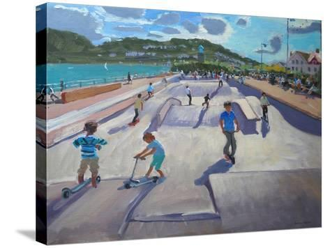 Skateboaders, Teignmouth, 2012-Andrew Macara-Stretched Canvas Print