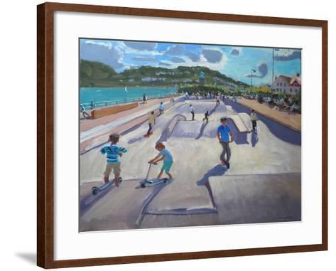 Skateboaders, Teignmouth, 2012-Andrew Macara-Framed Art Print