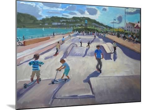 Skateboaders, Teignmouth, 2012-Andrew Macara-Mounted Giclee Print