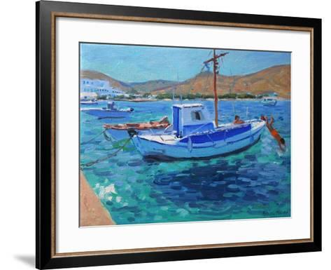 The Harbour, Tinos, 2012-Andrew Macara-Framed Art Print