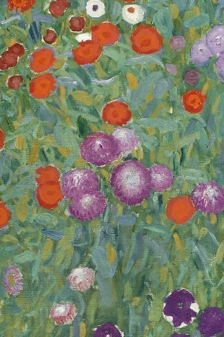 Flower Garden, 1905-07 (Detail)-Gustav Klimt-Stretched Canvas Print