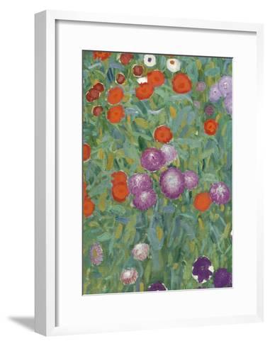 Flower Garden, 1905-07 (Detail)-Gustav Klimt-Framed Art Print