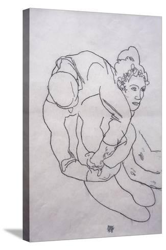 Being Embraced; Umarmende, 1918-Egon Schiele-Stretched Canvas Print