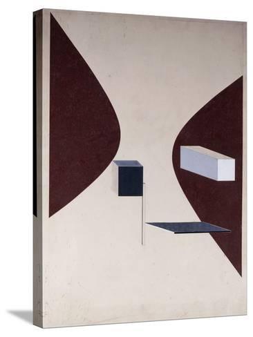 Proun N 90 (Ismenbuch), 1925-El Lissitzky-Stretched Canvas Print