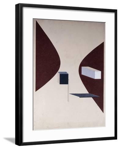Proun N 90 (Ismenbuch), 1925-El Lissitzky-Framed Art Print