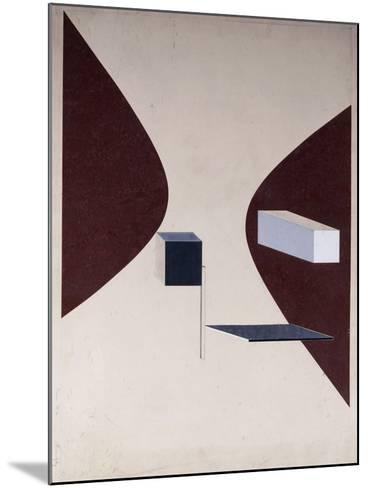 Proun N 90 (Ismenbuch), 1925-El Lissitzky-Mounted Giclee Print
