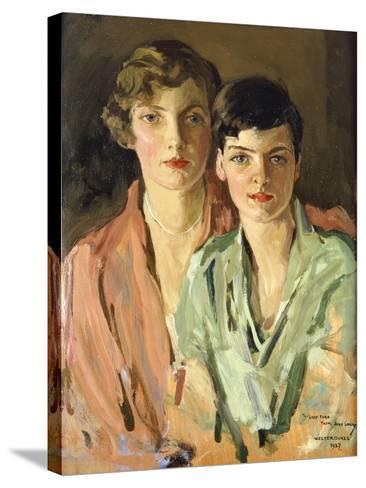 The Sisters, Joan and Marjory, 1927-Sir John Lavery-Stretched Canvas Print