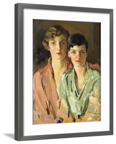 The Sisters, Joan and Marjory, 1927-Sir John Lavery-Framed Art Print