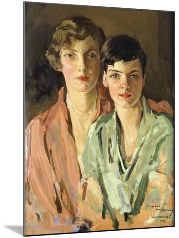 The Sisters, Joan and Marjory, 1927-Sir John Lavery-Mounted Giclee Print