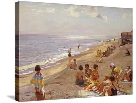 Silver Morning, Aldeburgh, 1932-Algernon Mayow Talmage-Stretched Canvas Print