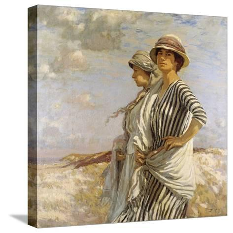 Mrs Talmage and a Friend, 1916-Algernon Mayow Talmage-Stretched Canvas Print