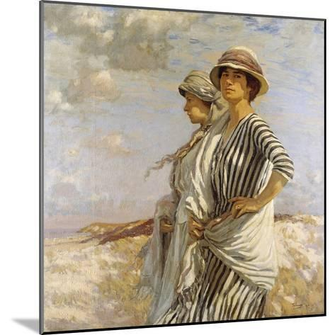 Mrs Talmage and a Friend, 1916-Algernon Mayow Talmage-Mounted Giclee Print