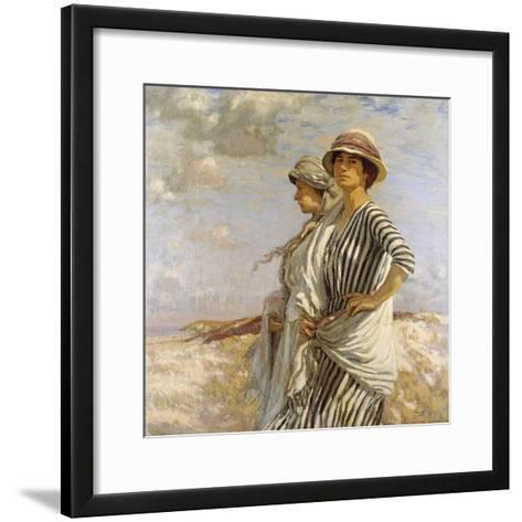 Mrs Talmage and a Friend, 1916-Algernon Mayow Talmage-Framed Art Print