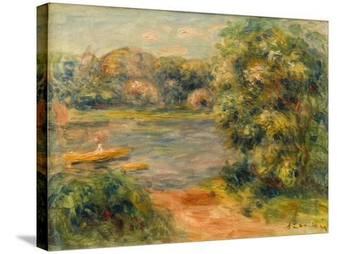 The Boat on the Lake, 1901-Pierre-Auguste Renoir-Stretched Canvas Print