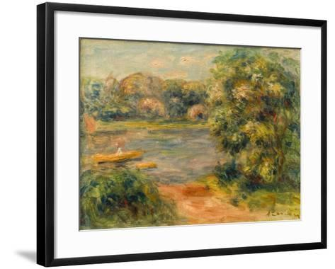 The Boat on the Lake, 1901-Pierre-Auguste Renoir-Framed Art Print