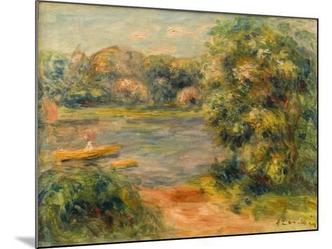 The Boat on the Lake, 1901-Pierre-Auguste Renoir-Mounted Giclee Print