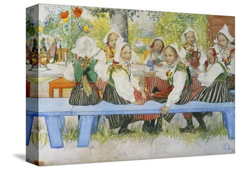 Kersti's Birthday, 1909-Carl Larsson-Stretched Canvas Print