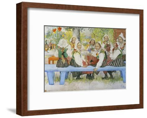 Kersti's Birthday, 1909-Carl Larsson-Framed Art Print