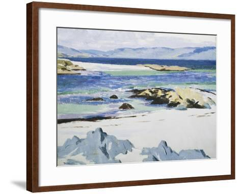 The Sound of Mull from Iona, c. 1932-Francis Campbell Boileau Cadell-Framed Art Print