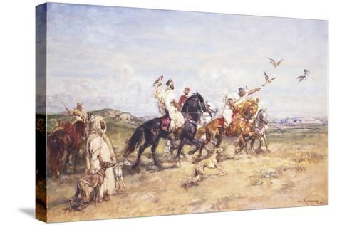 The Falcon Chase; La Chasse Au Falcon, 1923-Henri Emilien Rousseau-Stretched Canvas Print